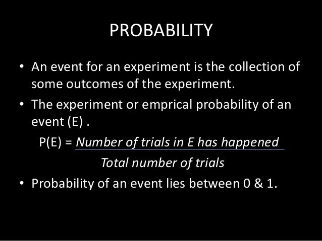 what are probability of 0.5 as a example