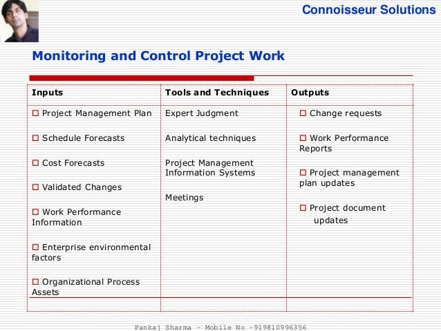 monitoring and control in project management example