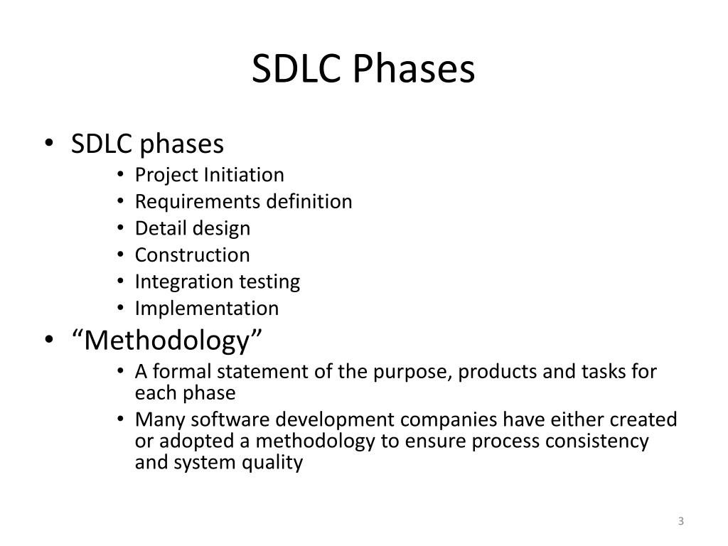 system development life cycle with example ppt