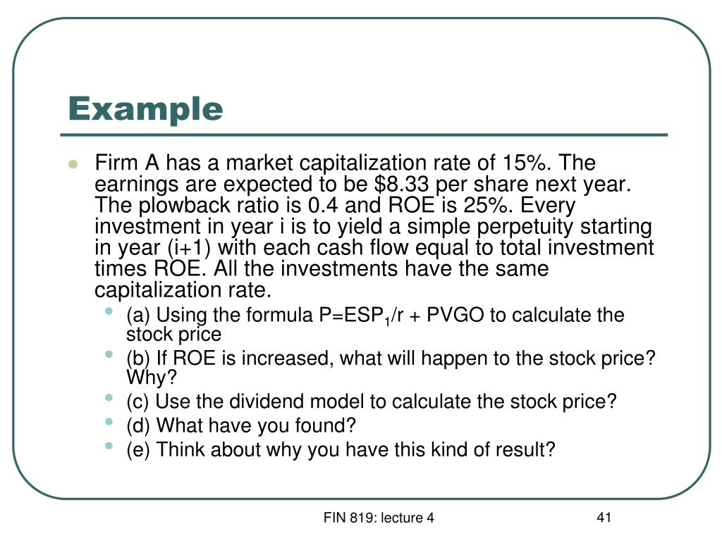 earnings per share formula and example