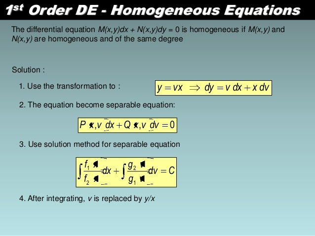 first order differential equation example