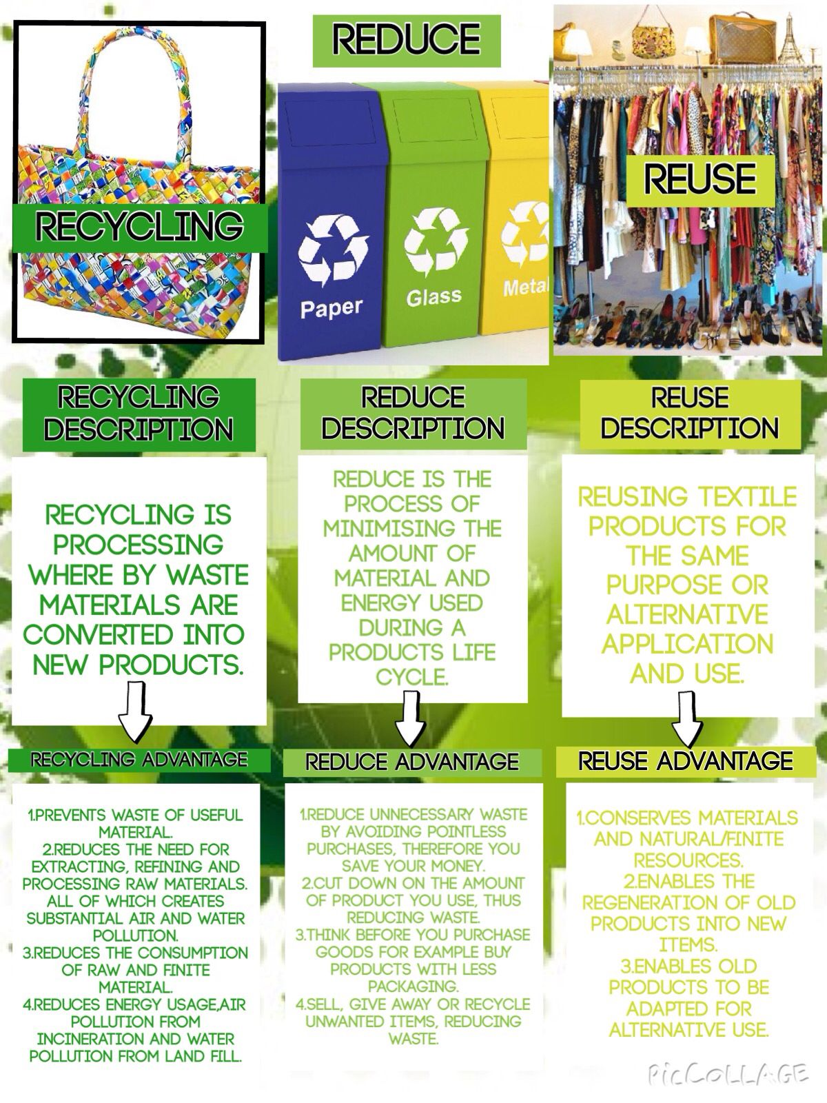 example of recycle to incorporate sustainability