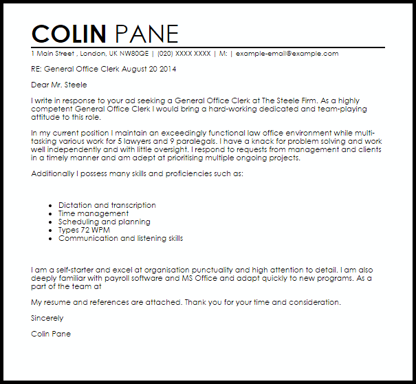 law cover letter example uk
