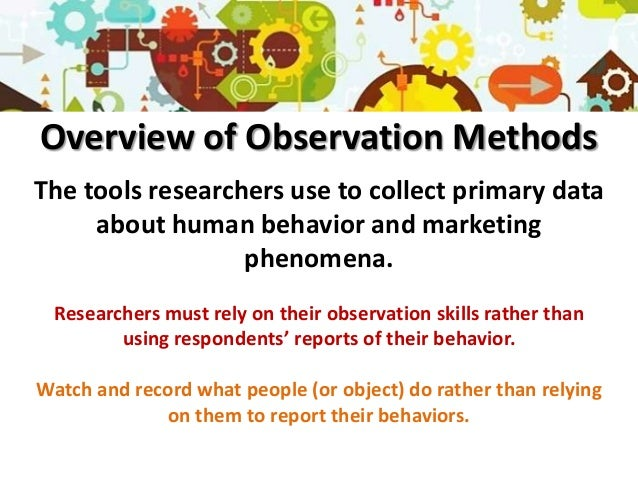 observation method in a report example