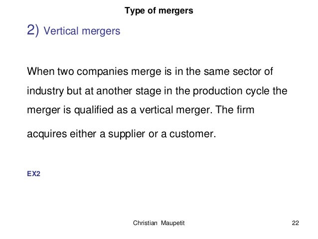 example of vertical merger companies