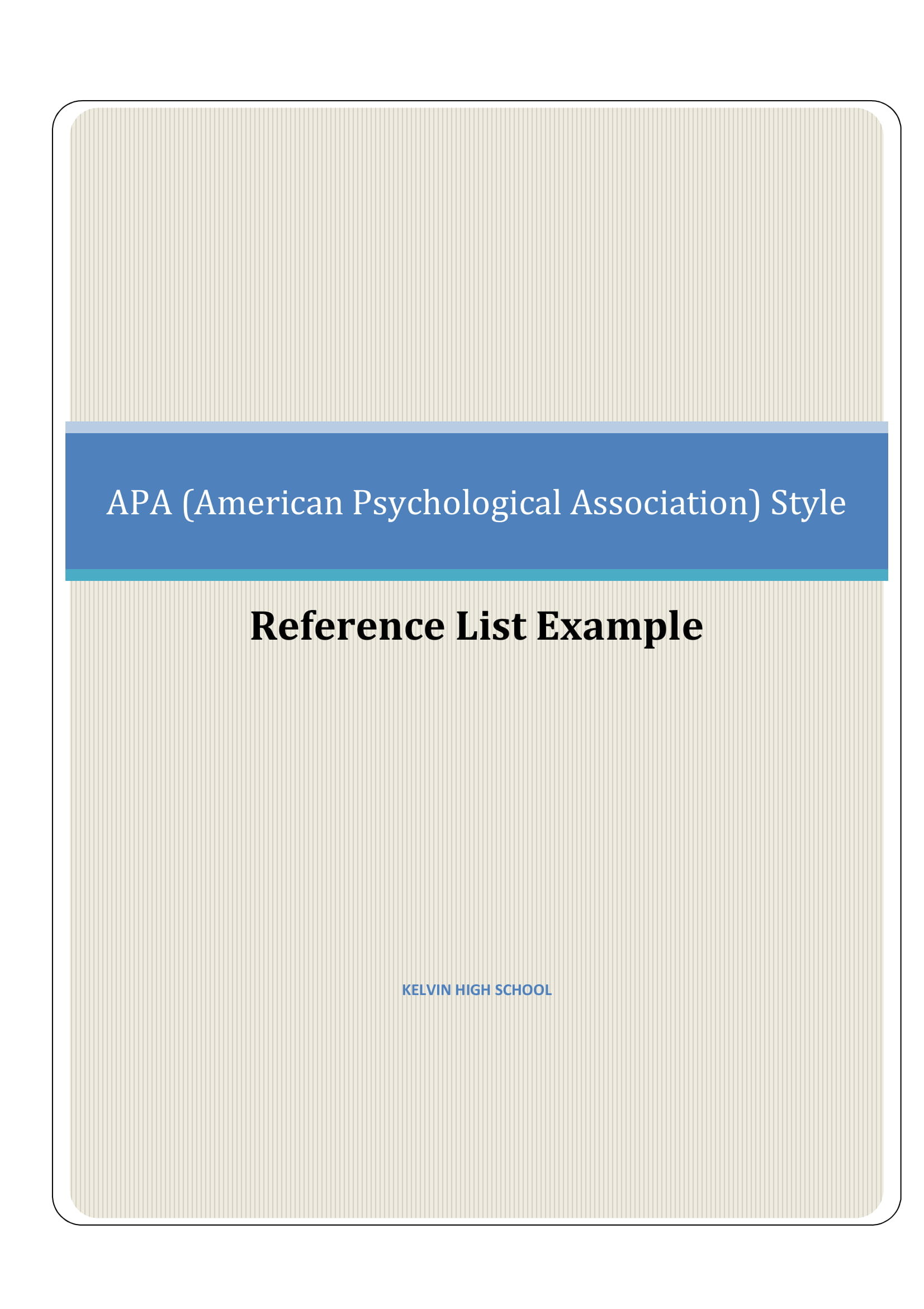 apa reference list book example