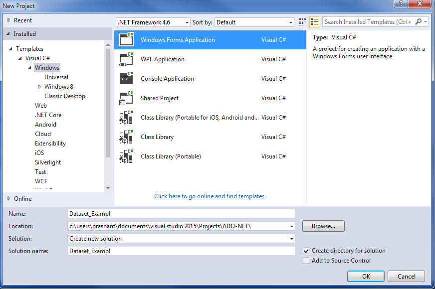 asp net tutorial with c# example