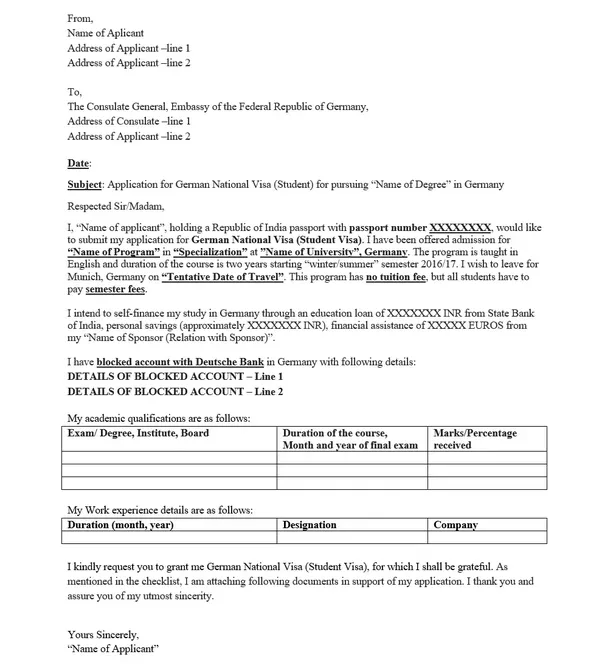 example of university student application with gte