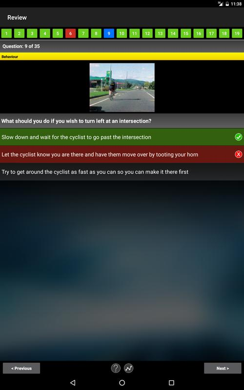 driving theory test online example