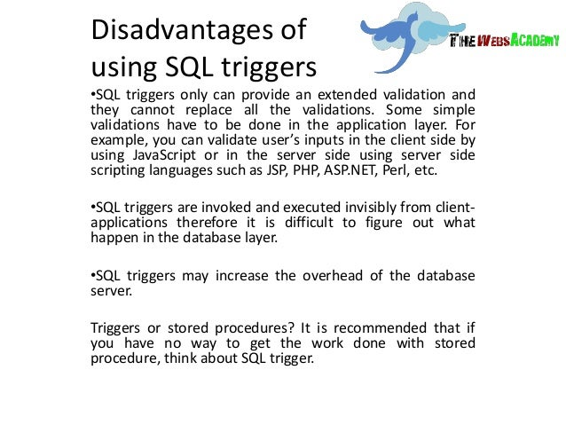 what is trigger in sql with example