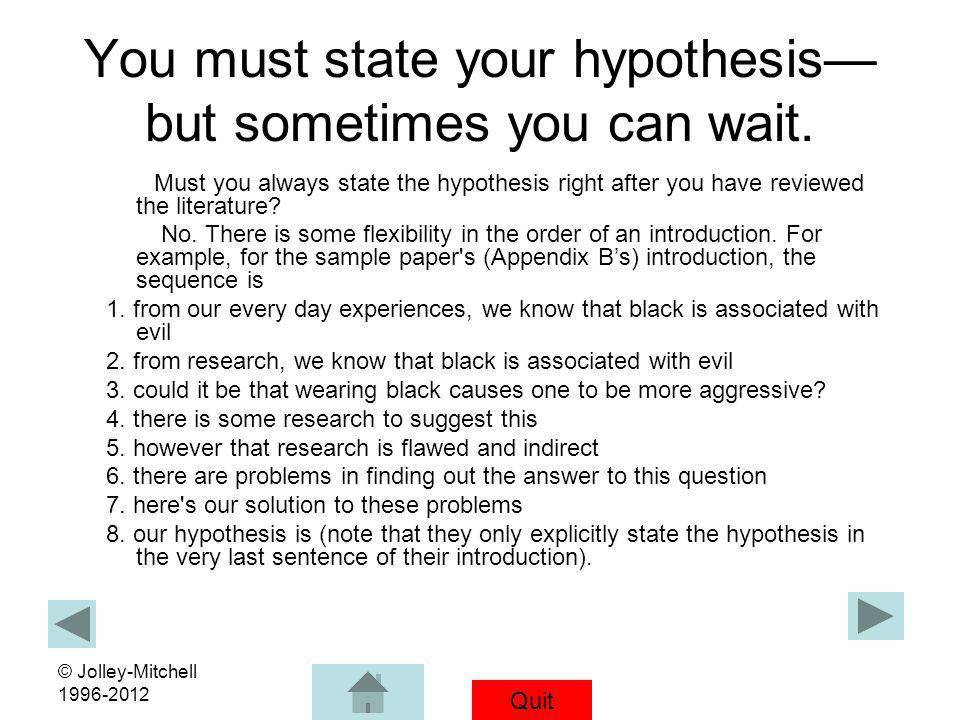 what is an example of a testable hypothesis
