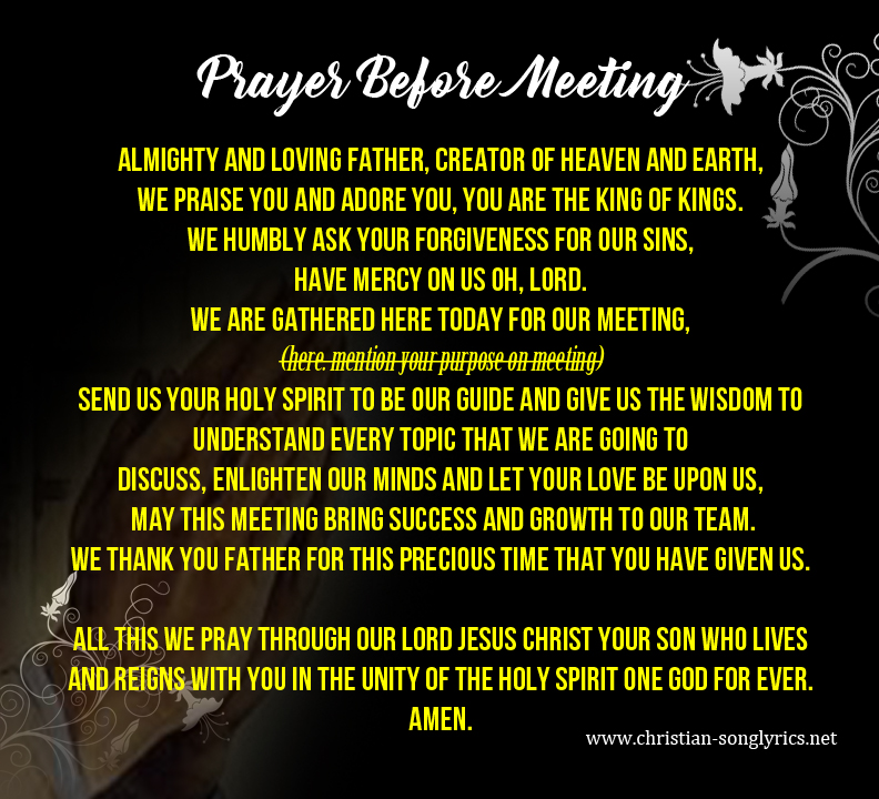 example of closing prayer for class