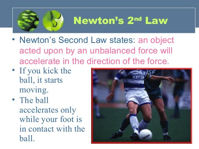 example of law of acceleration with explanation