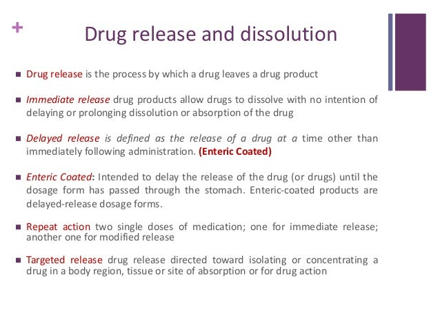 example of slow release drug