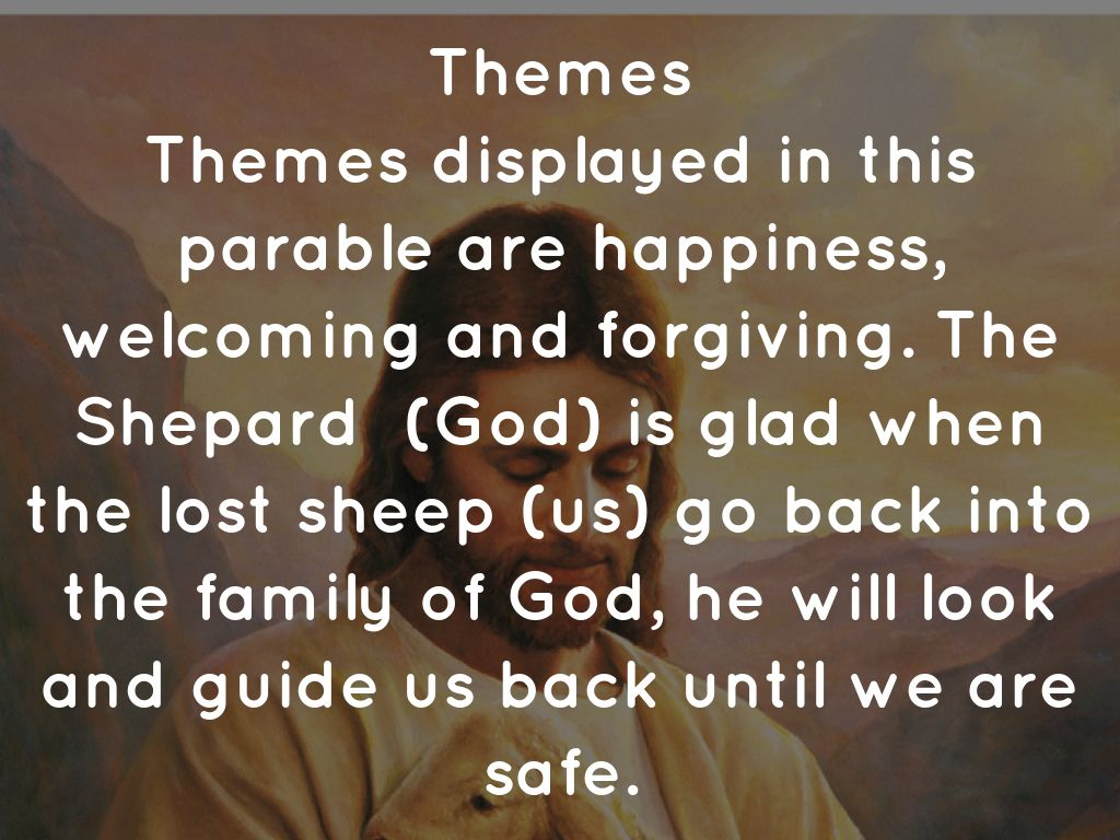 the message of the parable of the lost sheep example